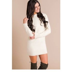 Dee Elly Dresses Cream Colored Sweater Dress Poshmark